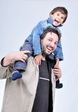 Happy father with boy Stock Photos