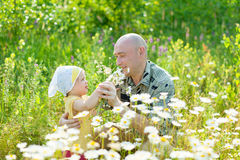 Happy father with child Stock Photos