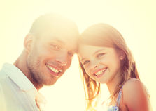 Happy father and child girl having fun Stock Photo