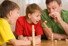 Happy father with children Stock Photo
