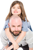 Happy father and cute daughter Stock Images
