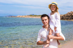 Happy father and cute little daughter have fun Stock Image