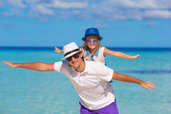 Happy father and cute little daughter have fun Royalty Free Stock Photography