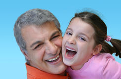 Pretty girl hugs her dad.  Royalty Free Stock Photography