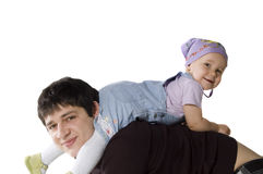 Happy father with a daughter Royalty Free Stock Image