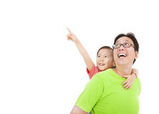 Happy father and daughter Royalty Free Stock Image