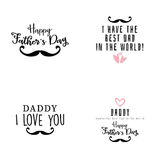 Happy father Day Stock Images