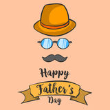 Happy father day background hand draw. Vector art Stock Photography