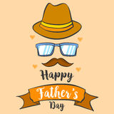 Happy father day background style card. Vector art Stock Photography