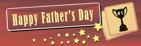 Happy Father Day Banner Stock Photo
