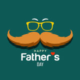 Happy Father day brown mustache design stock illustration