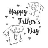 Happy father day card style. Vector art Royalty Free Stock Photo