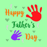Happy father day cartoon cute style. Vector illustration Stock Image