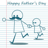 Happy father day cartoon design illustration 03 Stock Photos