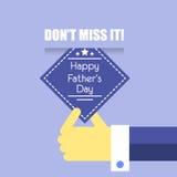 Happy father day cartoon design illustration 01 Royalty Free Stock Photo