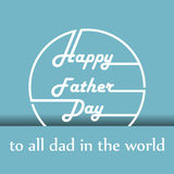 Happy father day cartoon design illustration 02 Stock Photos