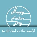Happy father day cartoon design illustration 02 Stock Photos
