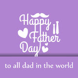 Happy father day cartoon design illustration 05 Stock Images