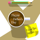 Happy father day cartoon design illustration 04 Stock Photography