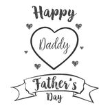 Happy father day celebration hand draw. Vector art Royalty Free Stock Images