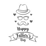 Happy father day celebration style. Vector illustration Stock Photos