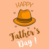 Happy father day collection stock. Vector illustration Royalty Free Stock Photography