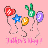 Happy father day colorful background. Vector illustration Stock Images