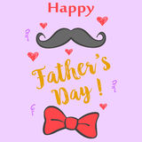 Happy father day colorful design. Vector art Royalty Free Stock Photo