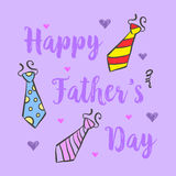 Happy father day design background. Vector illustration Royalty Free Stock Photography