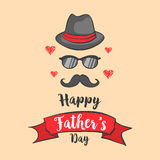 Happy father day design collection. Vector illustration Stock Photo