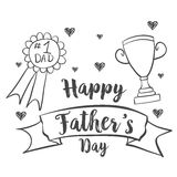 Happy father day design hand draw. Vector illustration Stock Images