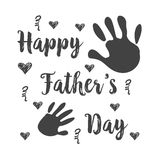 Happy father day doodle style. Vector illustration Royalty Free Stock Image