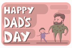 Happy Father Day Family Holiday, Man Dad Hold Son Hand Royalty Free Stock Photography