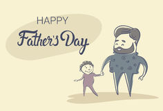 Happy Father Day Family Holiday, Man Dad Hold Son Hand Stock Photography