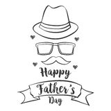 Happy father day hand draw celebration. Vector art Stock Images