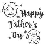 Happy father day hand draw collection. Vector art Stock Photography