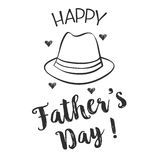 Happy father day hand draw design collection. Vector art Stock Image