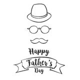 Happy father day hand draw style. Vector art Royalty Free Stock Images