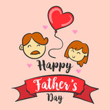 Happy father day hand draw vector art. Collection Royalty Free Stock Images