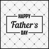 Happy Father Day - lettering in frame. Greeting card Royalty Free Stock Photography