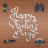 Happy father day Lettering vector illustration Royalty Free Stock Photos