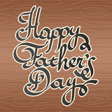 Happy father day Lettering vector illustration Stock Image