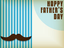 Happy Father Day Mustache Love Royalty Free Stock Photography