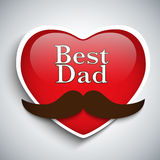 Happy Father Day Mustache Love Stock Image