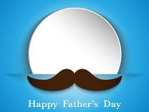 Happy Father Day Mustache Love royalty free illustration