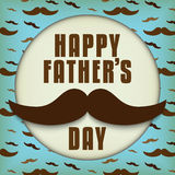 Happy Father Day Mustache Love Royalty Free Stock Image