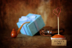Happy father day. Objects on a table Royalty Free Stock Photos