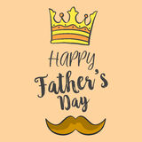 Happy father day over brown background. Vector illustration Stock Photography
