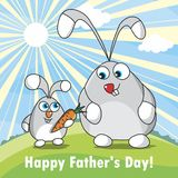 Happy Father Day. Postcard to the celebration `Happy Father`s Day`. Vector format Stock Photography