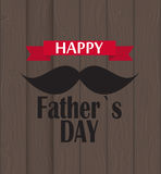 Happy Father Day Poster Card Vector Illustration Stock Photography